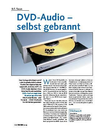 DVD-Audio - selbst gebrannt