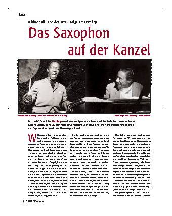 Das Saxophon auf der Kanzel