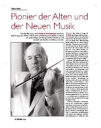Pionier der Alten und Neuen Musik