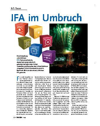 IFA im Umbruch