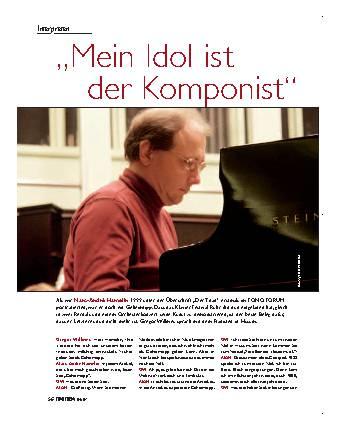 Mein Idol ist der Komponist