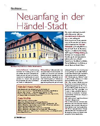 Neuanfang in der Händel-Stadt