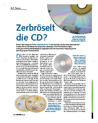 Zerbröselt die CD?