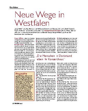 Neue Wege in Westfalen