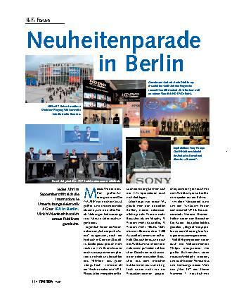 Neuheitenparade in Berlin
