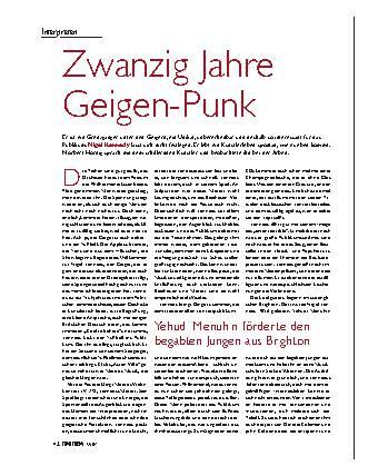 Zwanzig Jahre Geigen-Punk