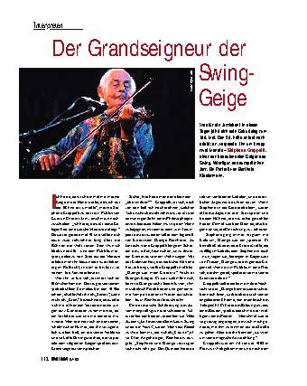 Der Grandseigneur der Swing-Geige
