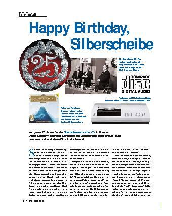 Happy Birthday, Silberscheibe