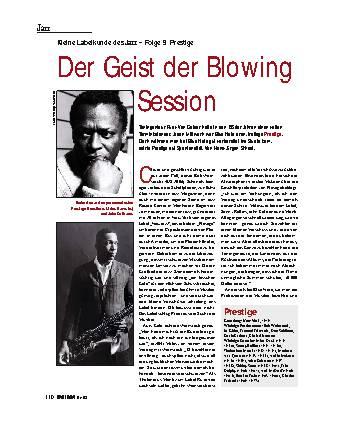 Der Geist der Blowing Session
