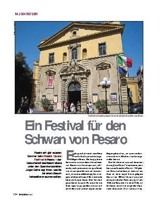 Ein Festival für den Schwan von Pesaro