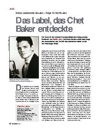 Das Label, das Chet Baker entdeckte