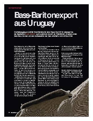 Bass-Baritonexport aus Uruguay