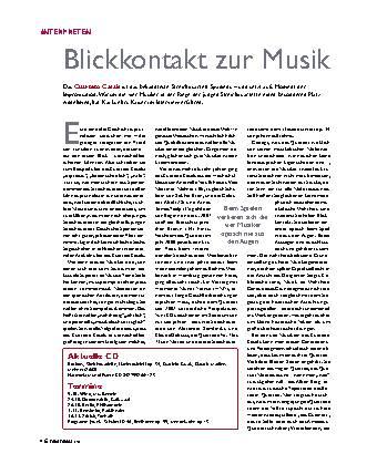 Blickkontakt zur Musik