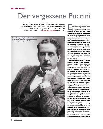 Der vergessene Puccini