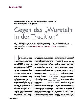 """Gegen das """"Wursteln in der Tradition"""""""