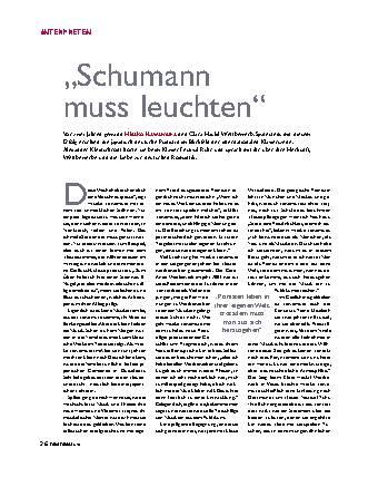 Schumann muss leuchten