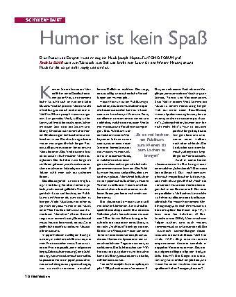 Humor ist kein Spaß