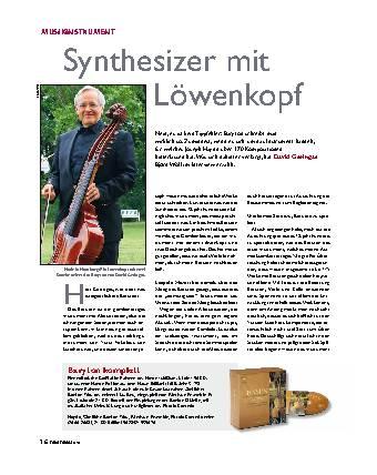 Synthesizer mit Löwenkopf