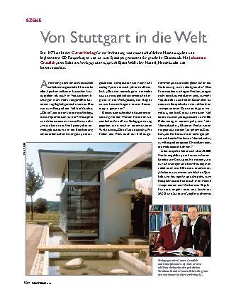 Von Stuttgart in die Welt