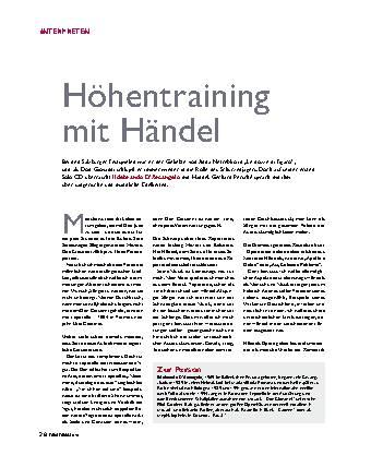 Höhentraining mit Händel