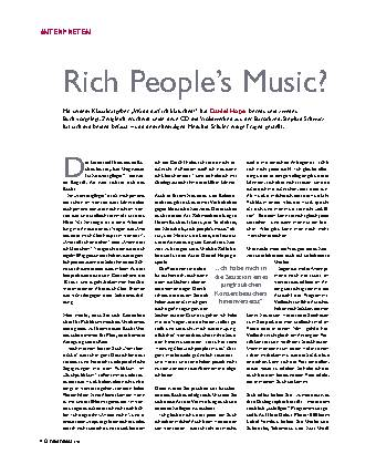 Rich People's Music?