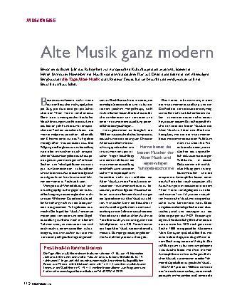 Alte Musik ganz modern