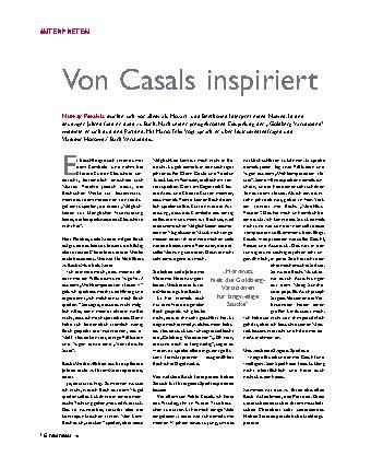 Von Casals inspiriert