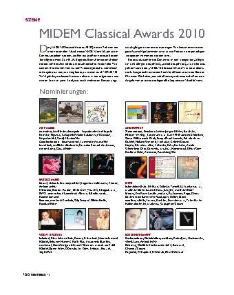 MIDEM Classical Awards 2010