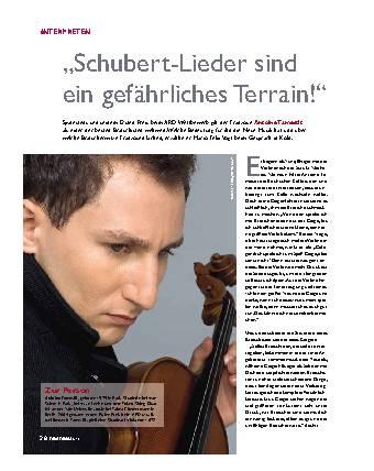 Schubert-Lieer sind ein gefährliches Terrain!