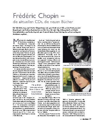 Frédéric Chopin – die aktuellen CDs, die neuen Bücher