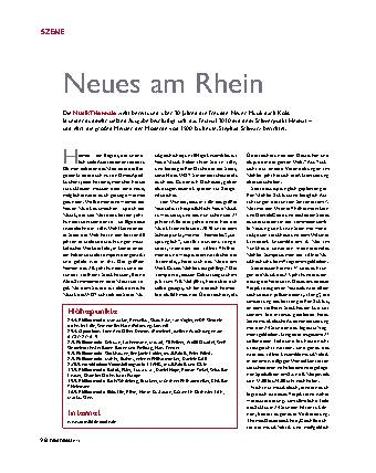 Neues am Rhein