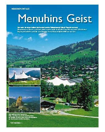 Menuhins Geist im Alpenparadies