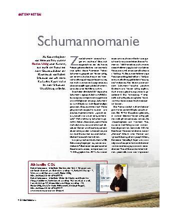 Schumannomanie