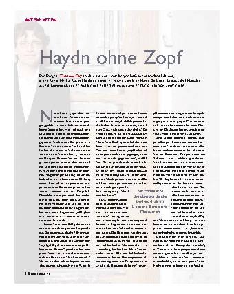 Haydn ohne Zopf
