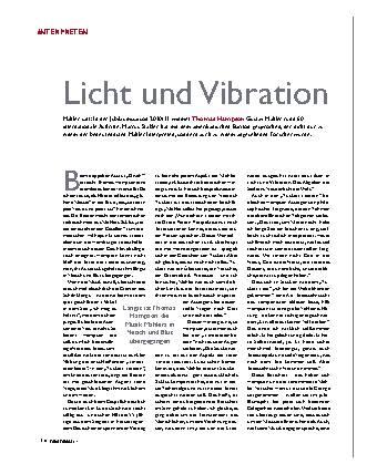 Licht und Vibration
