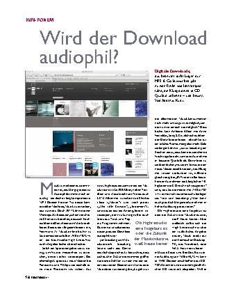 Wird der Download audiophil?