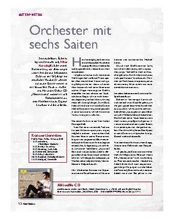 Orchester mit sechs Saiten