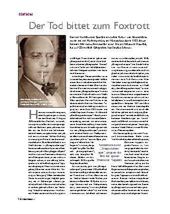 Der Tod bittet zum Foxtrott