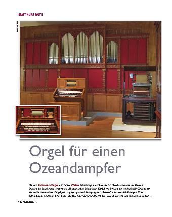 Orgel für einen Ozeandampfer