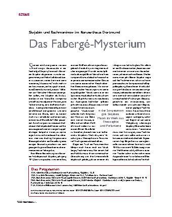 Das Fabergé-Mysterium