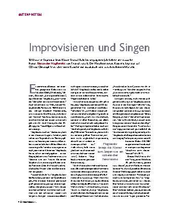 Improvisieren und Singen