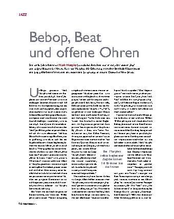 Bebop, Beat und offene Ohren