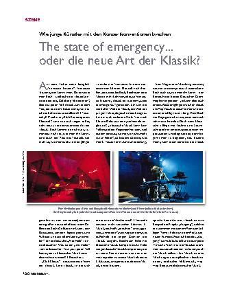 The state of emergency... oder die neue Art der Klassik?