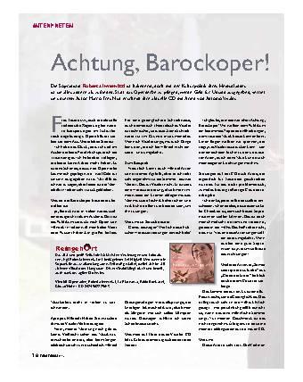 Achtung, Barockoper!