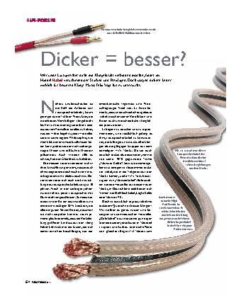 Dicker = besser?
