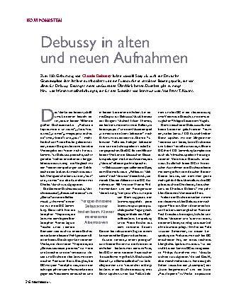 Debussy in alten und neuen Aufnahmen