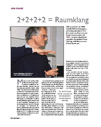 2+2+2+2 = Raumklang