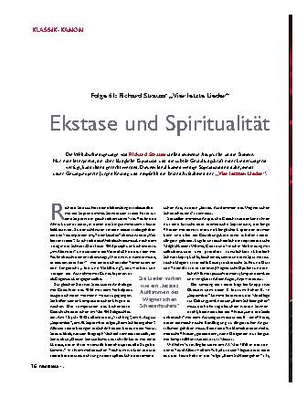 Ekstase und Spiritualität