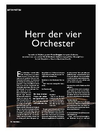 Herr der vier Orchester