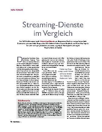 Streaming-Dienste im Vergleich
